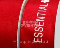 Печать шелкографией на репсовой ленте