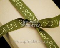 Репсовая лента с печатью